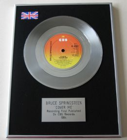 BRUCE SPRINGSTEEN - COVER ME Platinum Single Presentation Disc